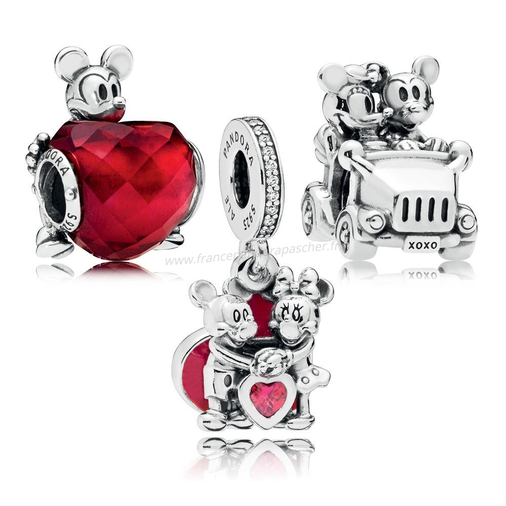 Vente Bijoux Disney Mickey Et Minnie Amour Charm Pack Pandora Magasin