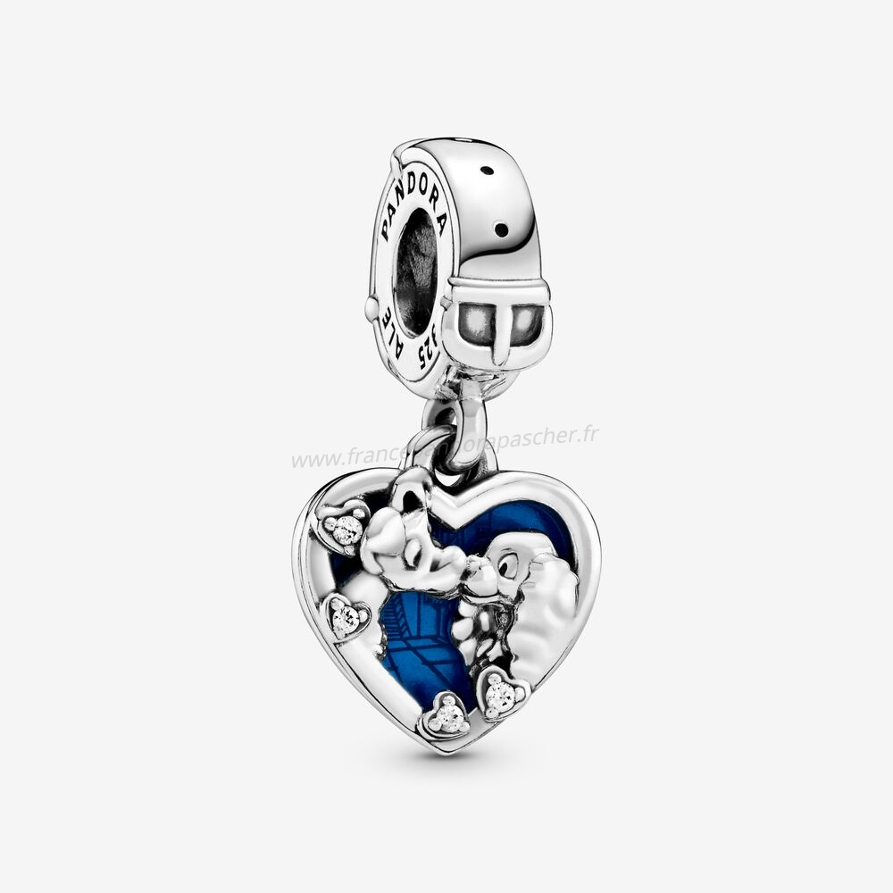 Vente Bijoux Pendentif Charm Disney Heart Belle Et The Tramp Pandora Magasin