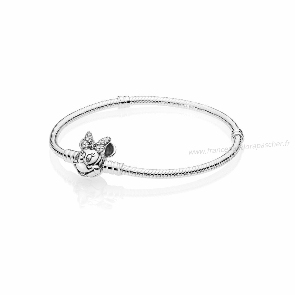 Vente Bijoux Disney Portrait Chatoyant De Minnie Moments Bracelets Pandora Magasin