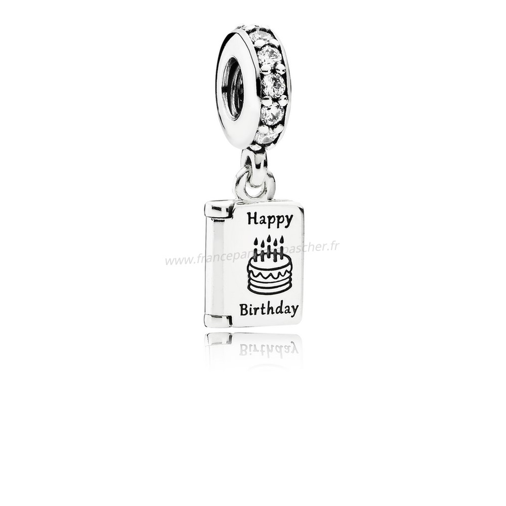 Vente Bijoux Anniversaire Voeux Dangle Charme Clear Cz Pandora Magasin