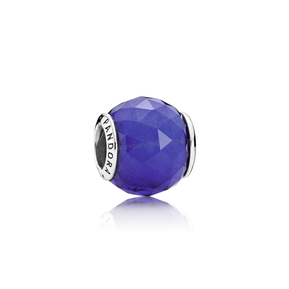 Vente Bijoux Charms De Couleur Charms Geometrique Facettes Royal Blue Crystal Pandora Magasin