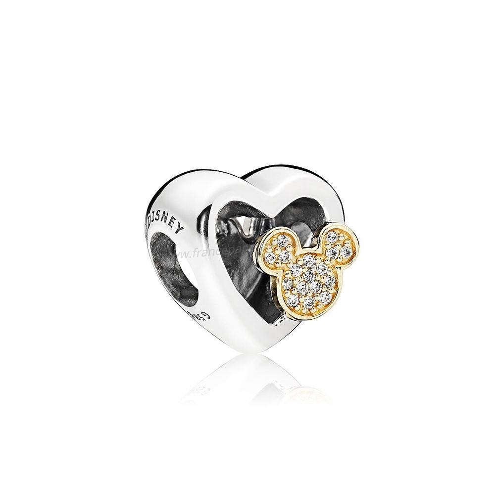 Vente Bijoux Collection D'Hiver Disney Mickey Minnie Amour Icones Charme Red Clear Cz Pandora Magasin