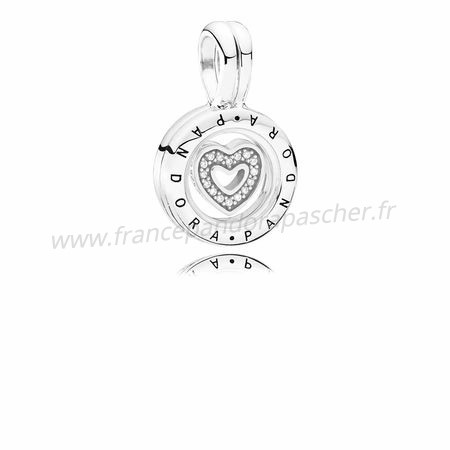 Vente Bijoux Collections Lockets Medaillon Flottant Sapphire Crystal Glass Clear Cz Pandora Magasin