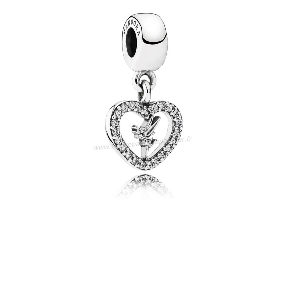 Vente Bijoux Disney Amour Tinker Bell Dangle Charm Clear Cz Pandora Magasin