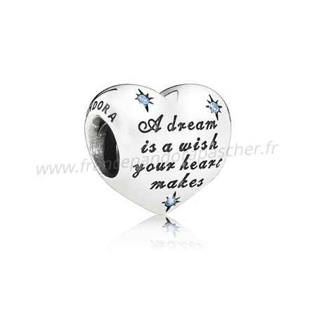 Vente Bijoux Disney Breloques Cendrillon Dream Charm Fancy Lumiere Blue Cz Pandora Magasin