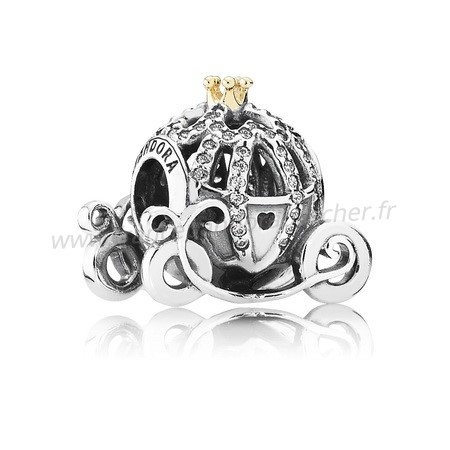 Vente Bijoux Disney Charms Cendrillon Pumpkin Coach Clear Cz Pandora Magasin