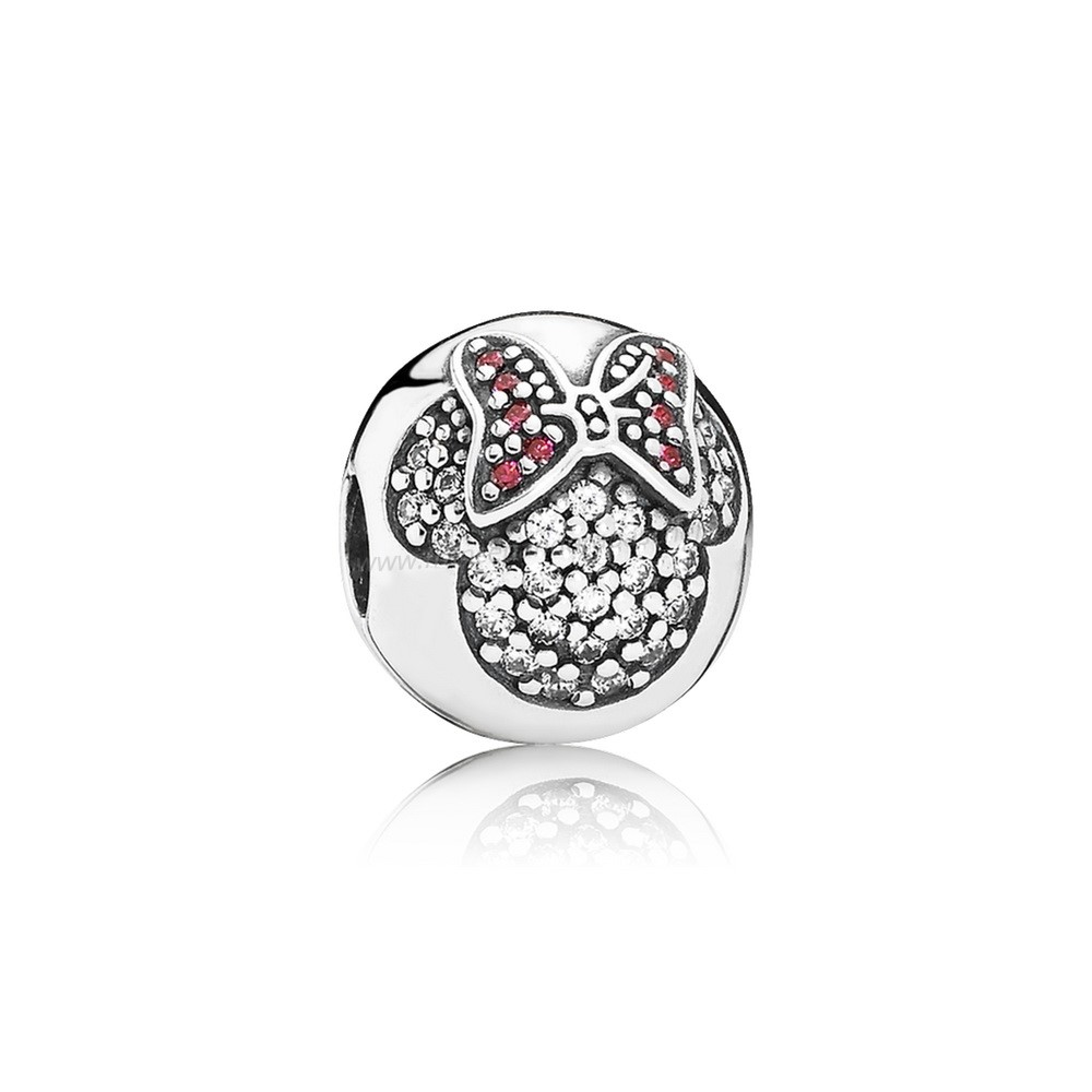 Vente Bijoux Disney Charms Minnie Pave Clip Pandora Magasin