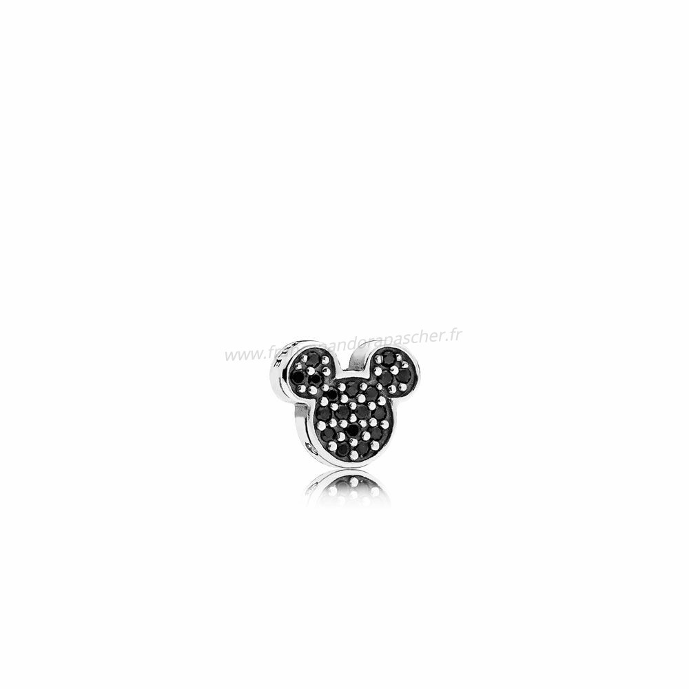 Vente Bijoux Disney Charms Mousseux Mickey Icon Noir Cristal Pandora Magasin