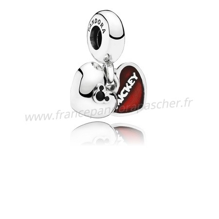 Vente Bijoux Disney Mickey Minnie Dangle Red Enamel Pandora Magasin