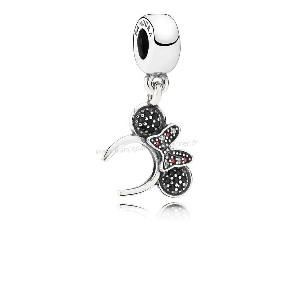 Vente Bijoux Disney Minnie Bandeau Dangle Charm Noir Rouge Cz Pandora Magasin