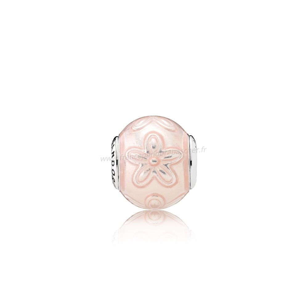 Vente Bijoux Essence Happiness Transparent Creme Rose Email Pandora Magasin