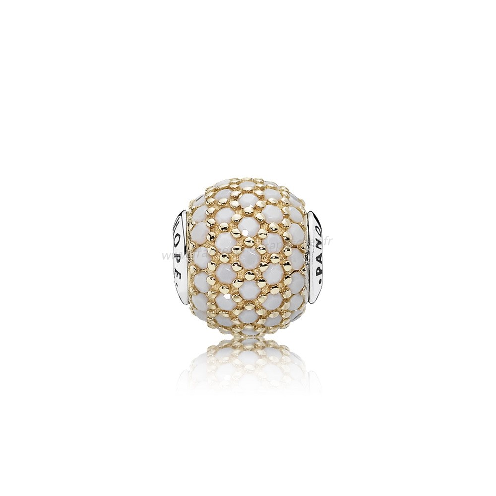 Vente Bijoux Essence Hope Charme 14K Or Opaque Blanc Cristal Pandora Magasin