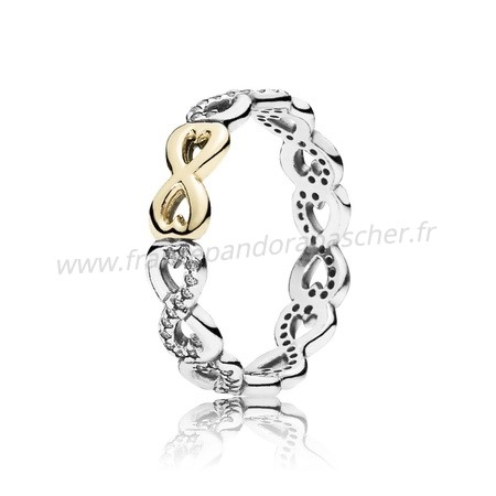 Vente Bijoux Infinite Amour Empilable Bagues Clear Cz Pandora Magasin