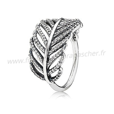 Vente Bijoux Lumiere Comme A Feather Bagues Clear Cz Pandora Magasin