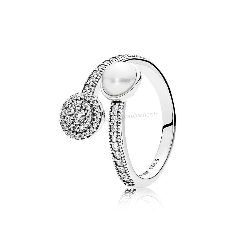 Vente Bijoux Luminescente Lumineuse Blanc Crystal Pearl Et Clear Cz Pandora Magasin