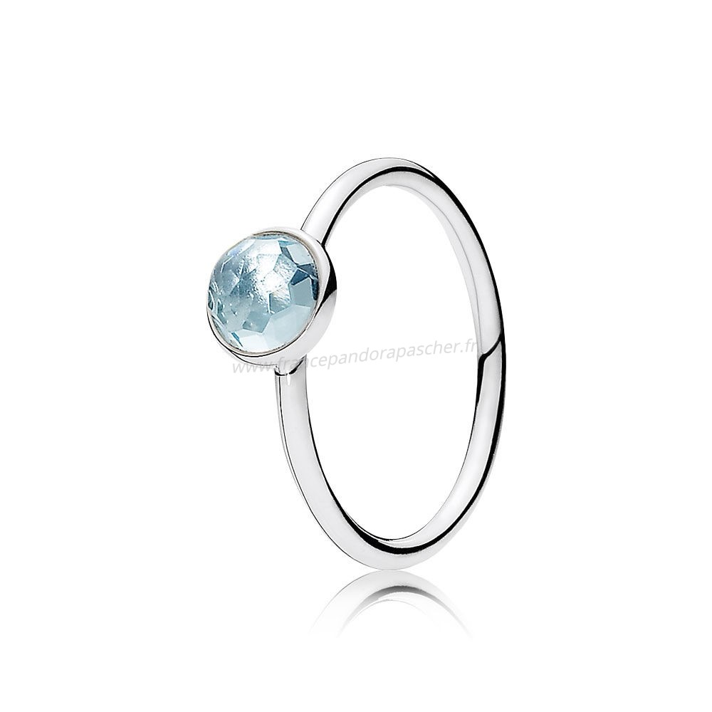 Vente Bijoux March Gouttelette Aqua Blue Crystal Pandora Magasin
