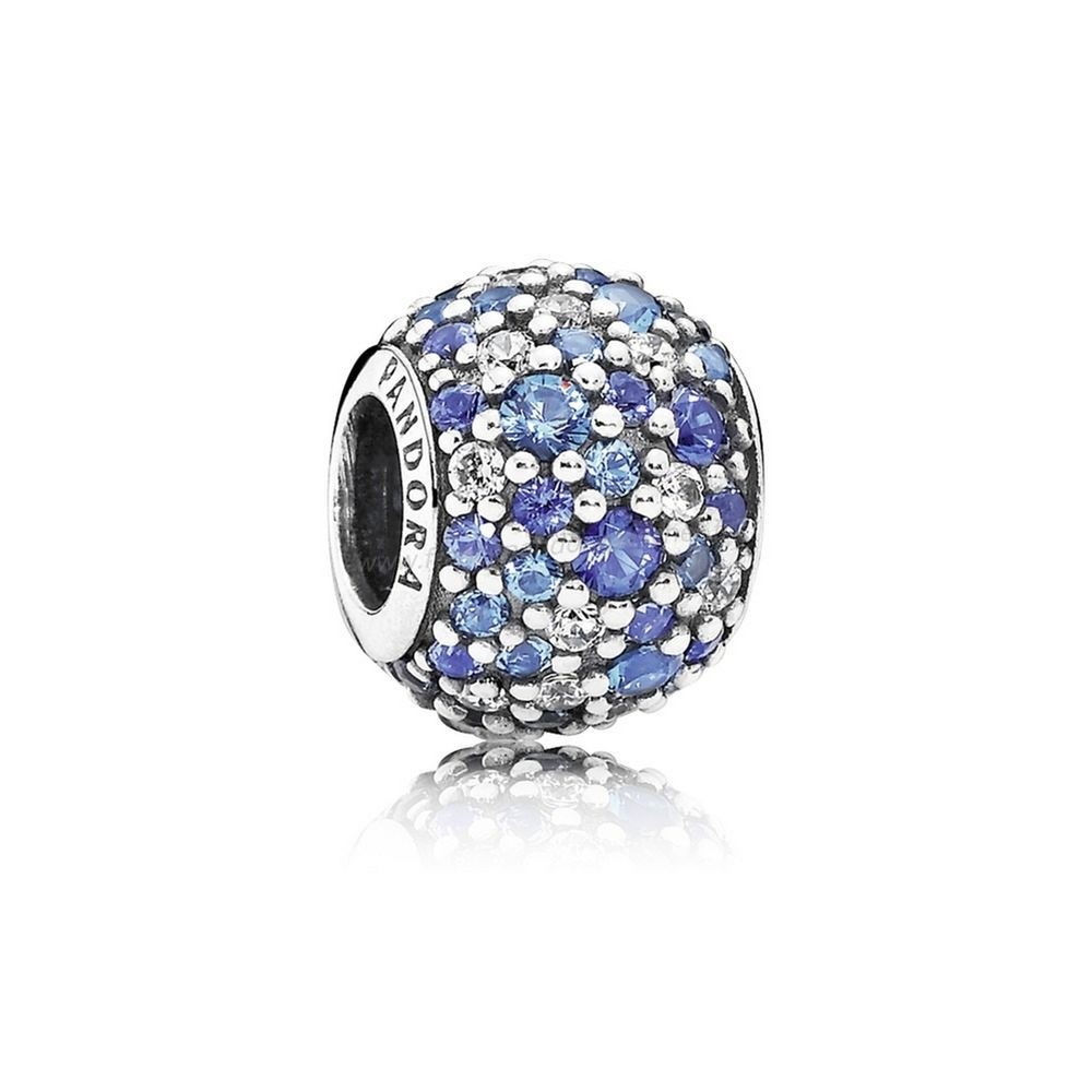 Vente Bijoux Paillettes Paves Charms Sky Mosaique Pave Charm Mixed Blue Crystals Clear Cz Pandora Magasin
