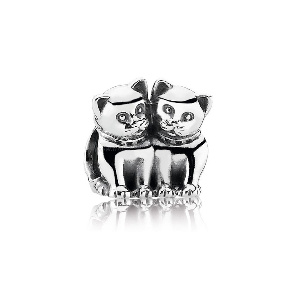 Vente Bijoux Pandora Animaux Charms Purrfect Together Kittens Charm Pandora Magasin