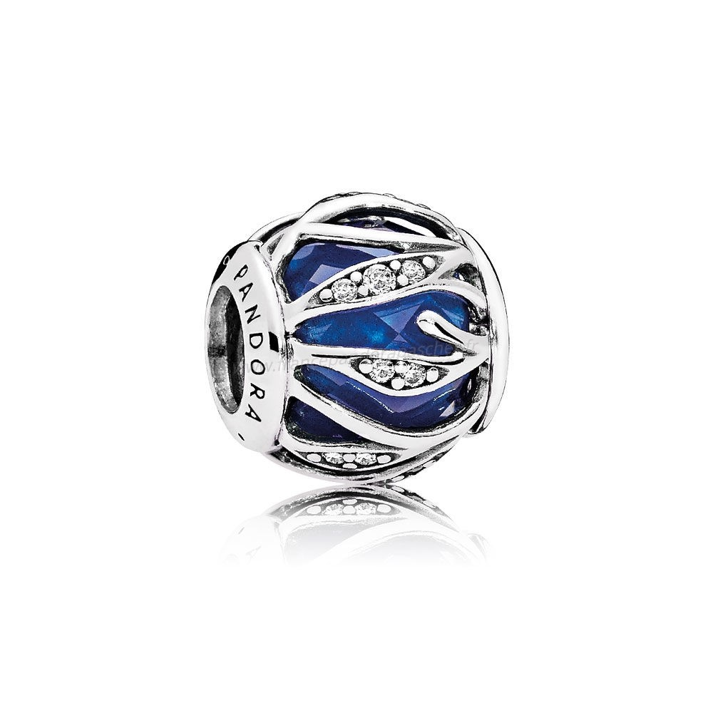 Vente Bijoux Pandora Breloque De Couleur Breloque Nature'S Radiance Royal Blue Crystal Clear Cz Pandora Magasin