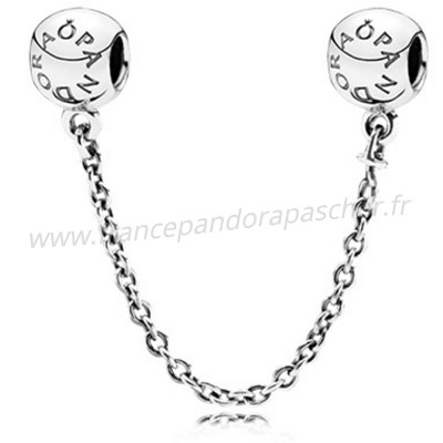 Vente Bijoux Pandora Chaines De Securite Pandora 925 Logo Safety Chain Pandora Magasin