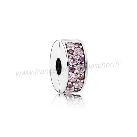 Vente Bijoux Pandora Charms De Couleur Mosaic Brillant Elegance Clip Fancy Rose Fancy Violet Cz Pandora Magasin