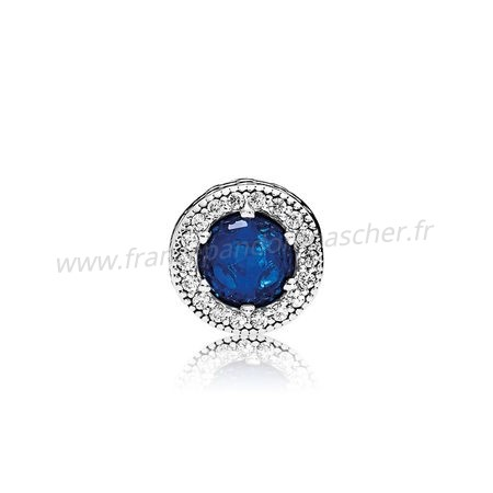 Vente Bijoux Pandora Collection Hiver Peace Charm Royal Blue Crystals Clear Cz Pandora Magasin
