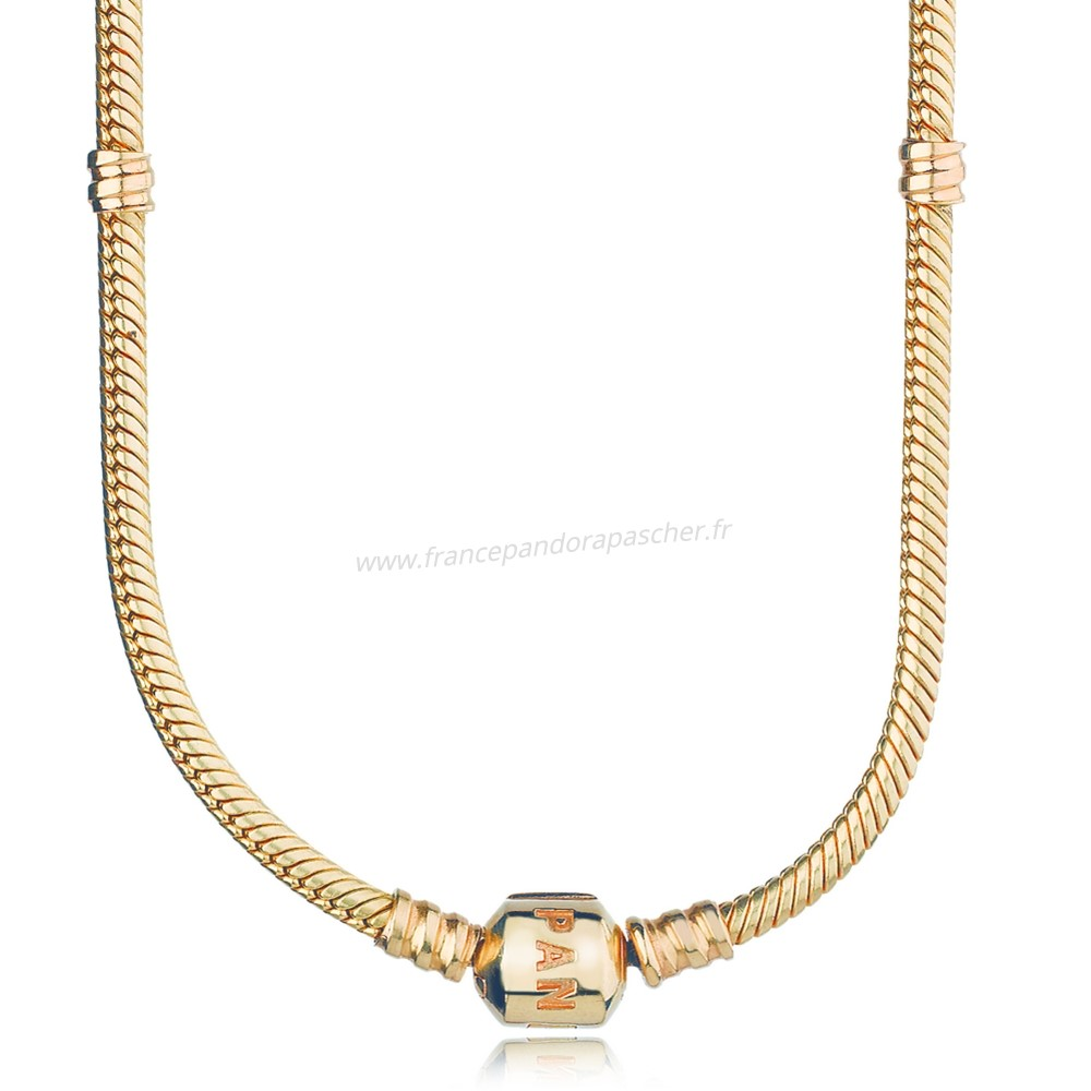 Vente Bijoux Pandora Collections 14K Collier A Breloques En Or Pandora Magasin