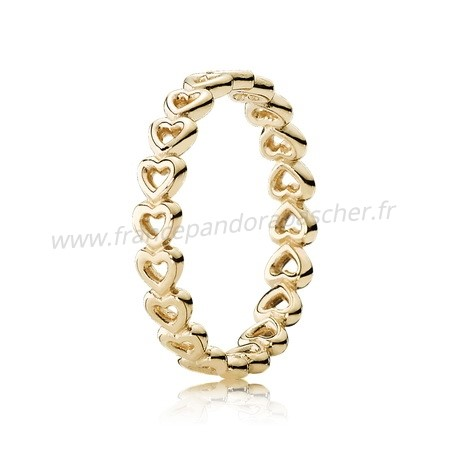 Vente Bijoux Pandora Collections Bague Amour Linked 14K Jaune Or Pandora Magasin