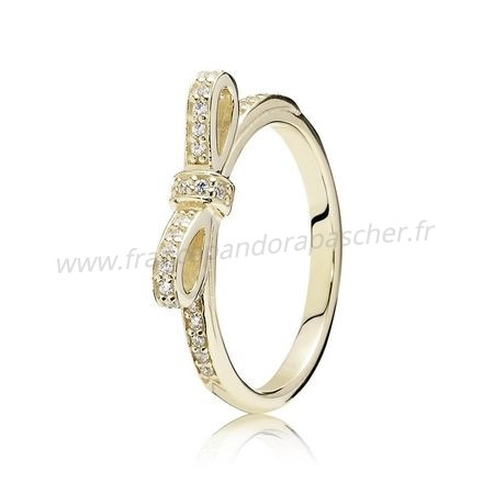 Vente Bijoux Pandora Collections Bague Etincelante Clear Cz 14K Or Pandora Magasin