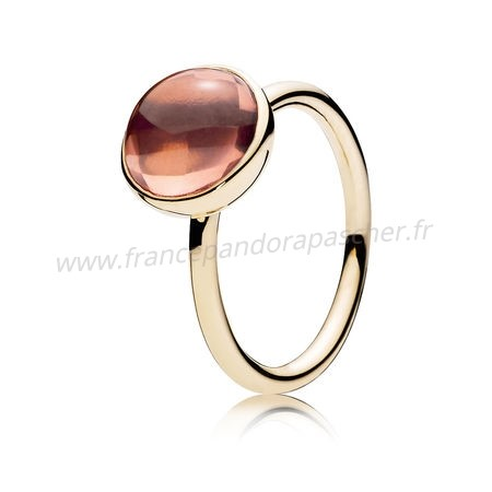Vente Bijoux Pandora Collections Bague Gouttelette Poetique 14K Or Blush Rose Crystal Pandora Magasin