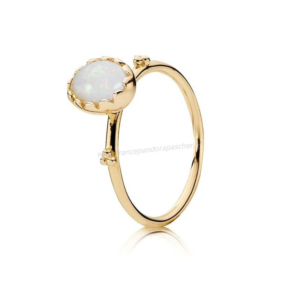 Vente Bijoux Pandora Collections Bague Sweet Sweetness Blanc Opal 14K Or Pandora Magasin