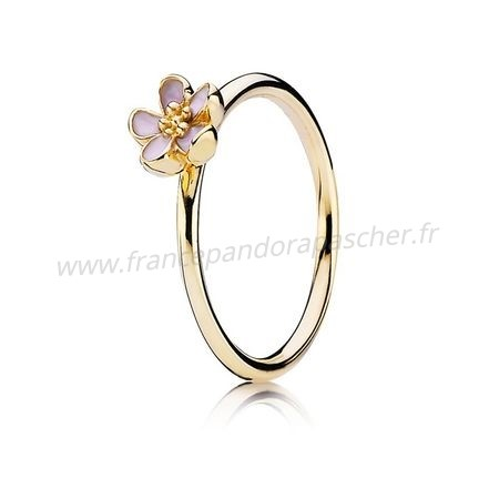 Vente Bijoux Pandora Collections Cerisier Blossom Bague Empilable Rose 14K Or Pandora Magasin