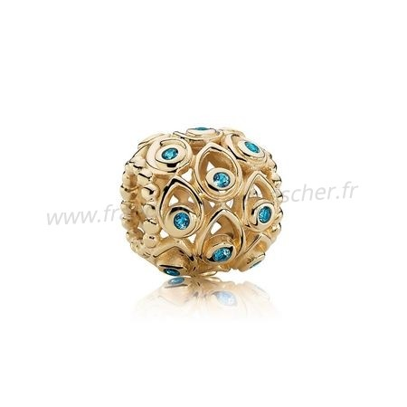 Vente Bijoux Pandora Collections Ocean Tresors Charme Deep Blue Topaz 14K Or Pandora Magasin