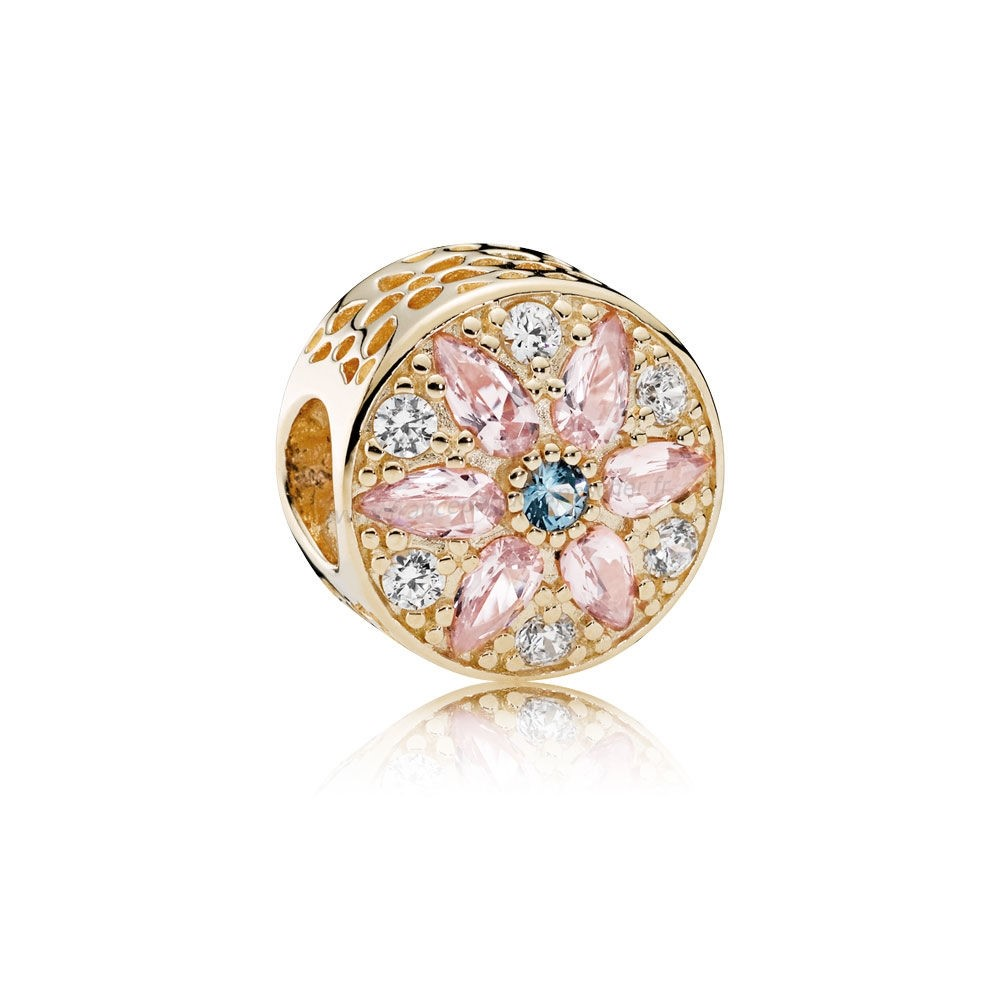 Vente Bijoux Pandora Collections Opulent Floral Charm 14K Or Multi Coloured Crystals Clear Cz Pandora Magasin