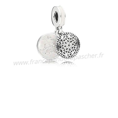 Vente Bijoux Pandora Dangle Breloques True Yoga Dangle Charm Email Pandora Magasin