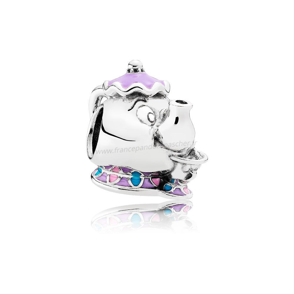Vente Bijoux Pandora Dangle Charms Disney Mrs. Potts Puce Charme Mixed Email Pandora Magasin