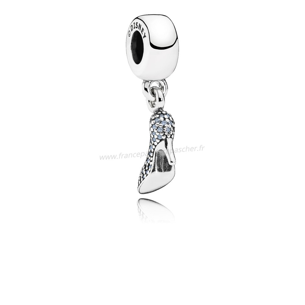Vente Bijoux Pandora Disney Charms Cendrillon Mousseux Dangle Charm Fancy Lumiere Blue Cz Pandora Magasin