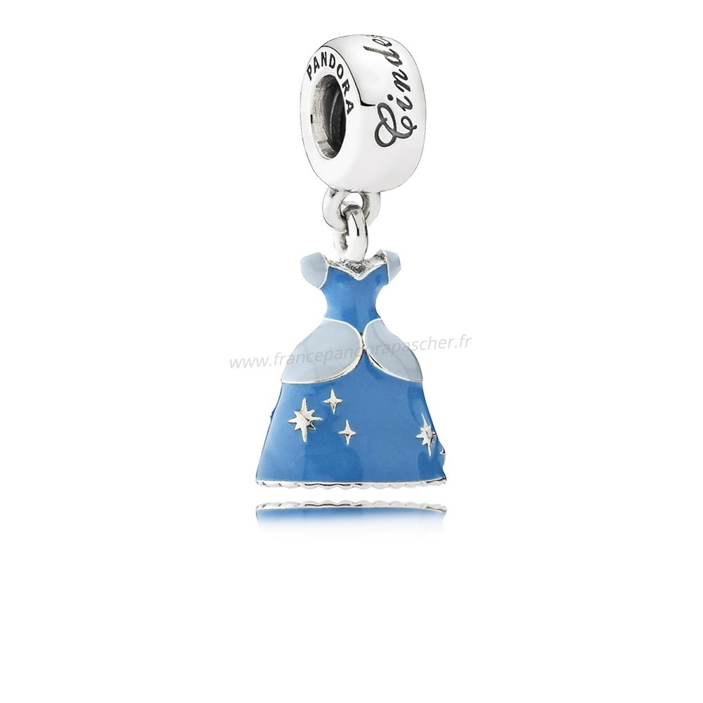Vente Bijoux Pandora Disney Charms Cendrillon Robe Dangle Charm Mixed Enamel Pandora Magasin