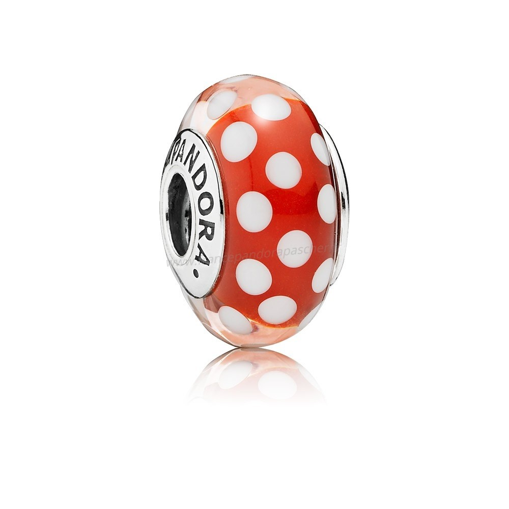 Vente Bijoux Pandora Disney Collection Disney Minnie'S Signeature Charm Murano Verre Pandora Magasin