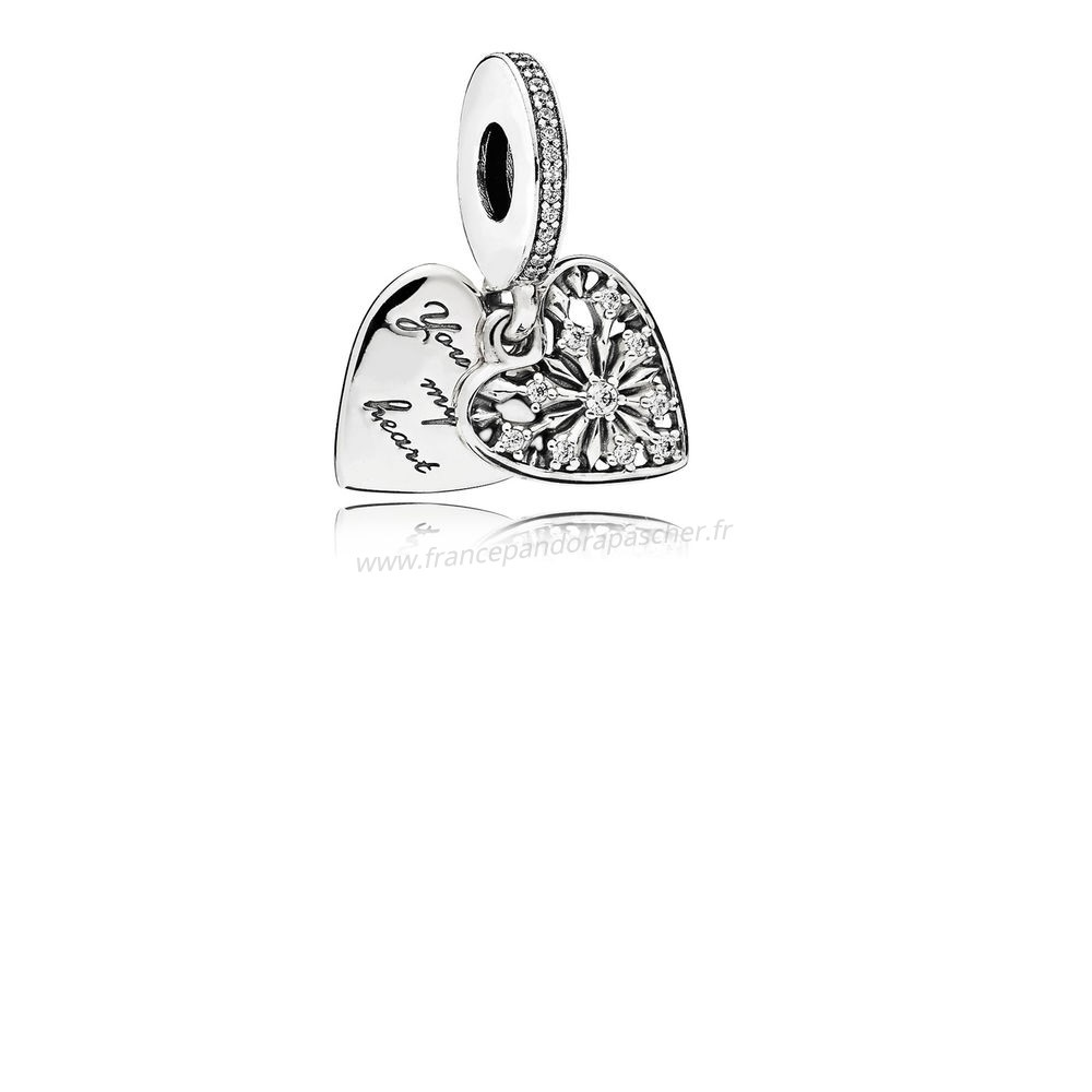 Vente Bijoux Pandora Hiver Collection Coeur De Hiver Dangle Charm Clear Cz Pandora Magasin