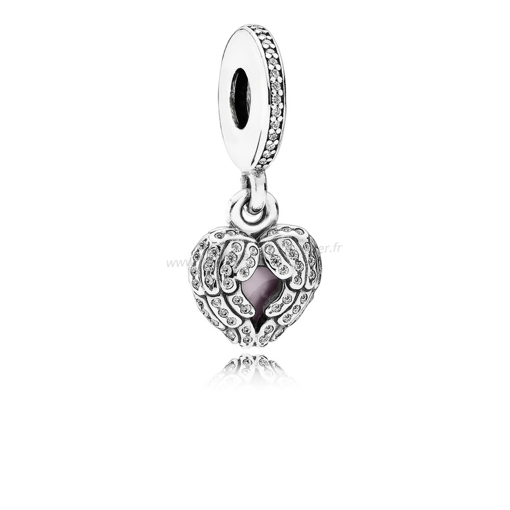 Vente Bijoux Pandora Inspirational Charms Ange Ailes Dangle Charm Clear Cz Rose Email Pandora Magasin