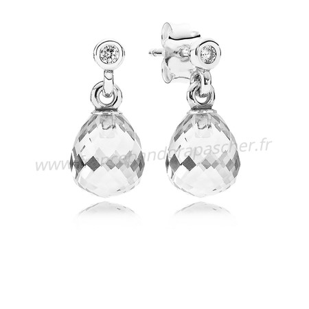 Vente Bijoux Pandora Intemporel Elegance Geometrique Drops Drop Clear Cz Pandora Magasin
