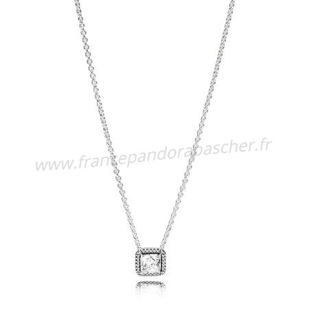 Vente Bijoux Pandora Intemporel Elegance Intemporel Elegance Collier Clear Cz Pandora Magasin