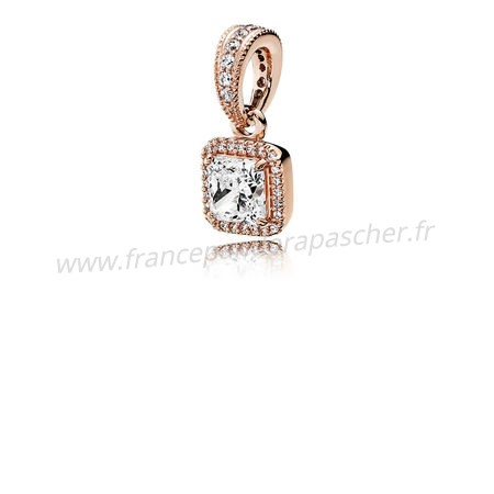 Vente Bijoux Pandora Intemporel Elegance Intemporel Elegance Pendant Pandora Rose Clear Cz Pandora Magasin