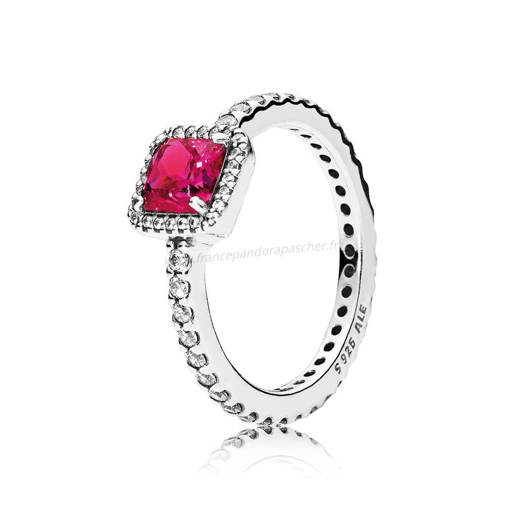 Vente Bijoux Pandora Intemporel Elegance Intemporel Elegance Synthetique Ruby Clear Cz Pandora Magasin