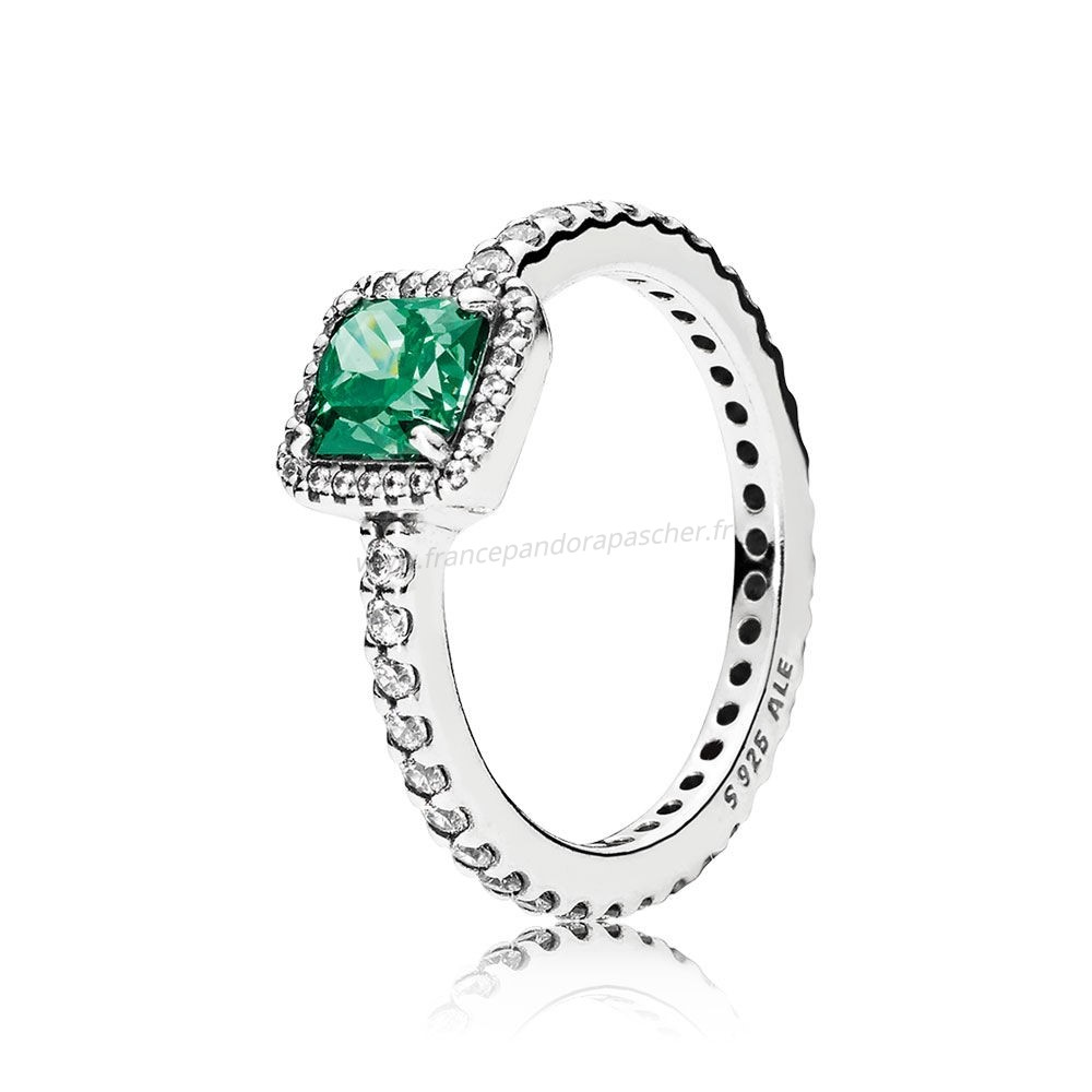 Vente Bijoux Pandora Intemporel Elegance Intemporel Elegance Vert Clear Cz Pandora Magasin