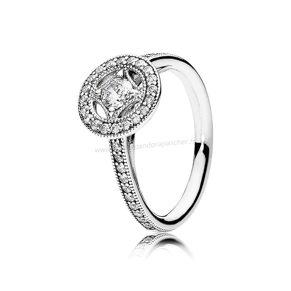 Vente Bijoux Pandora Intemporel Elegance Vintage Allure Bague Clear Cz Pandora Magasin