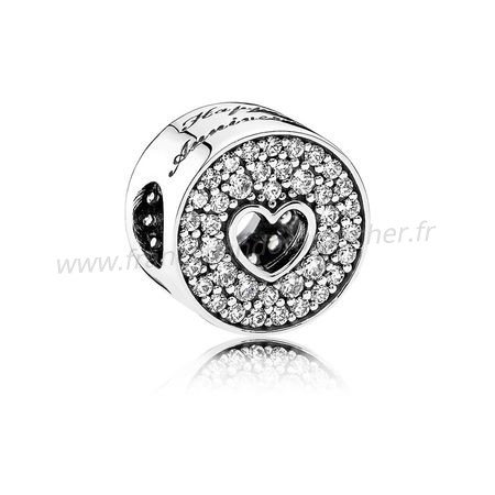 Vente Bijoux Pandora Paillettes Paves Charms Anniversaire Celebration Clear Cz Pandora Magasin