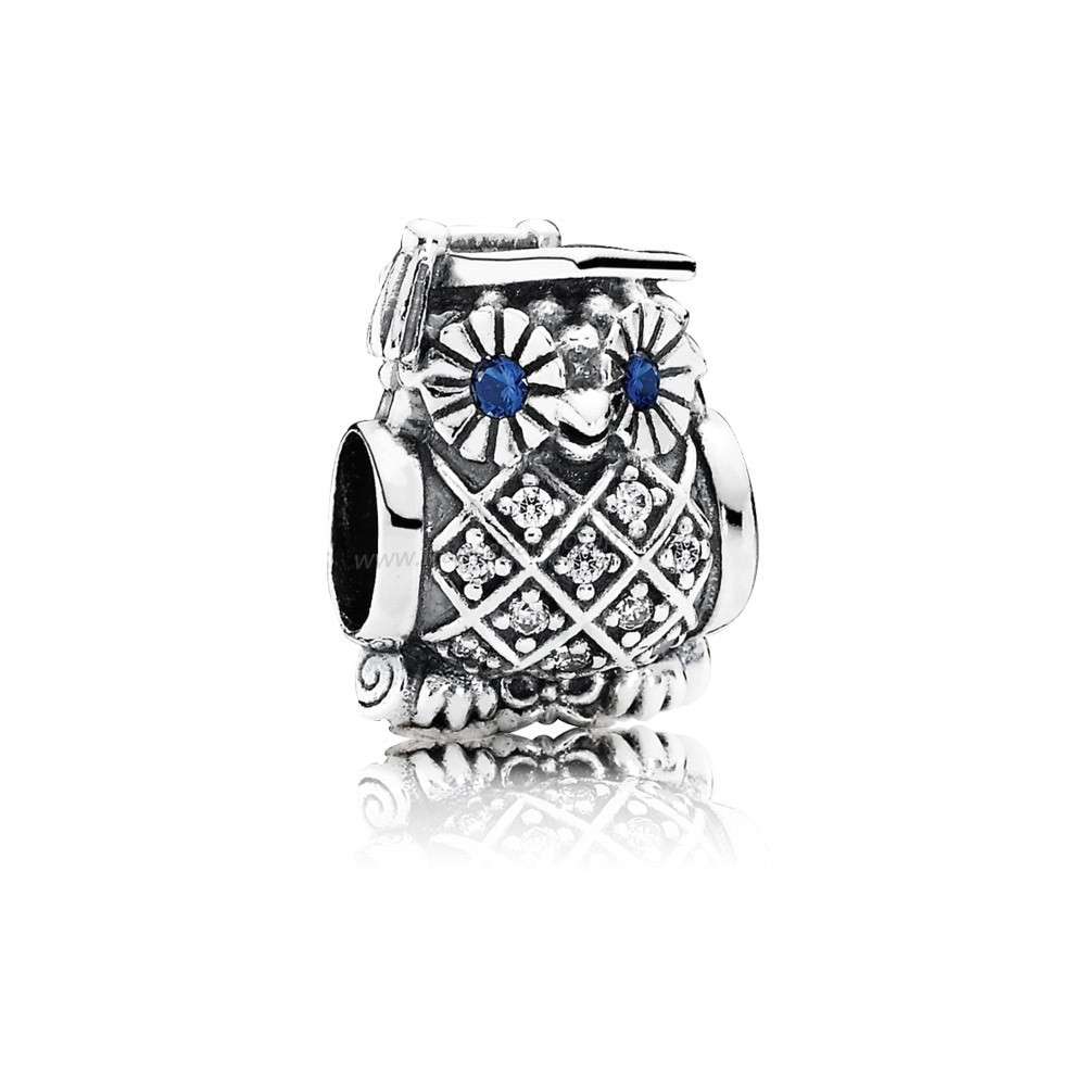 Vente Bijoux Pandora Passions Charms Carriere Aspirations Hibou Diplome Swiss Blue Crystal Clear Cz Pandora Magasin