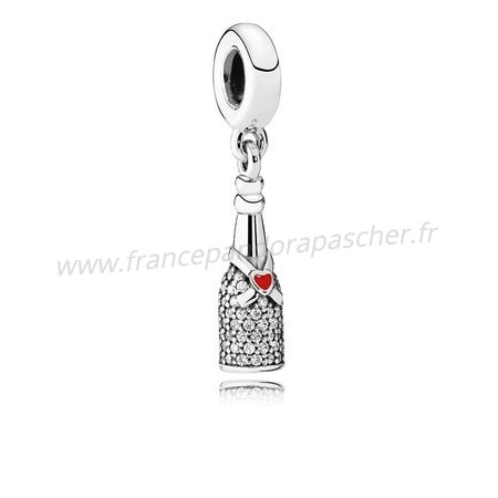 Vente Bijoux Pandora Passions Charms Chic Charme Celebration Time Dangle Red Enamel Clear Cz Pandora Magasin